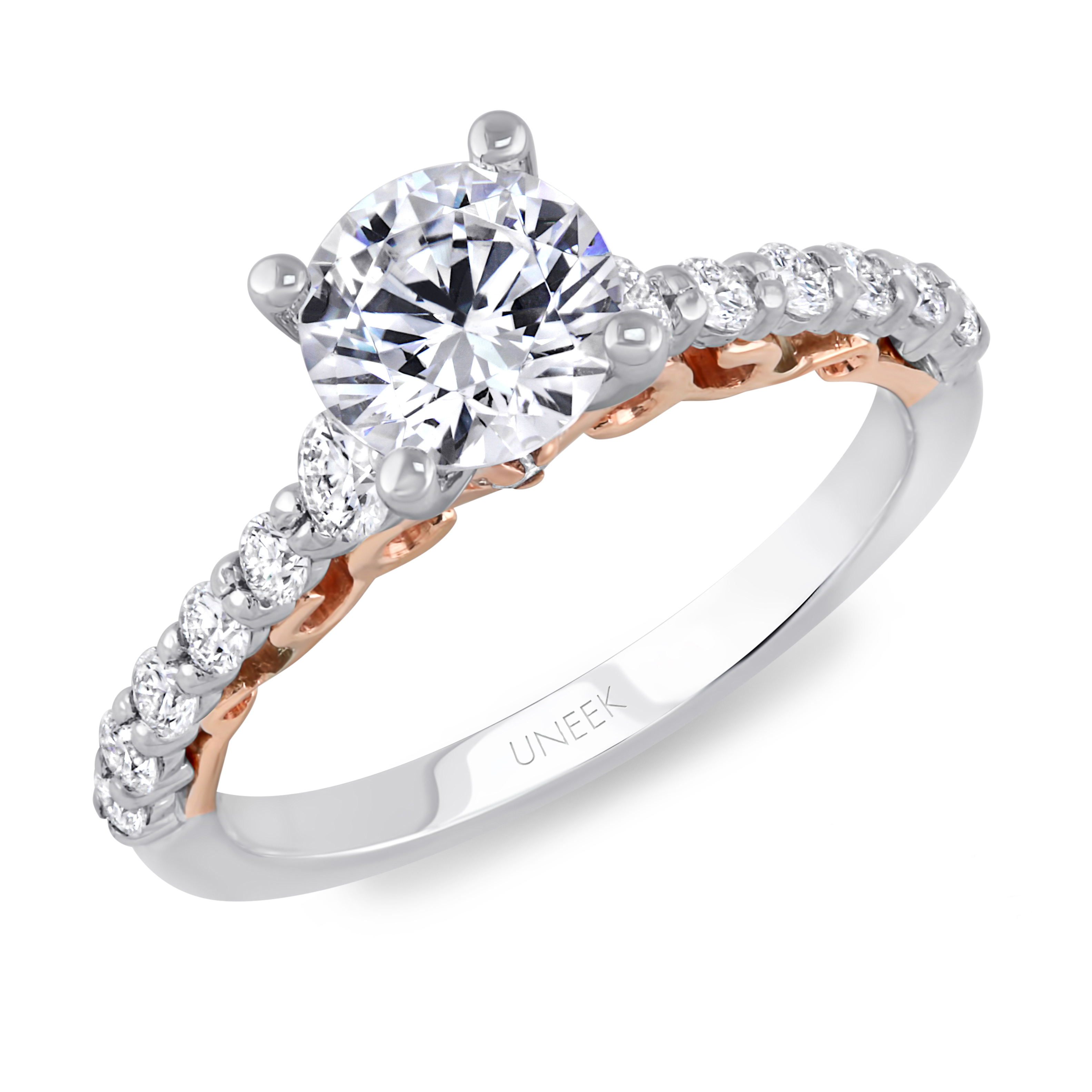 glamorous wgrg halfway regular ring round white rings solitaire matching band diamond in gold with back engagement
