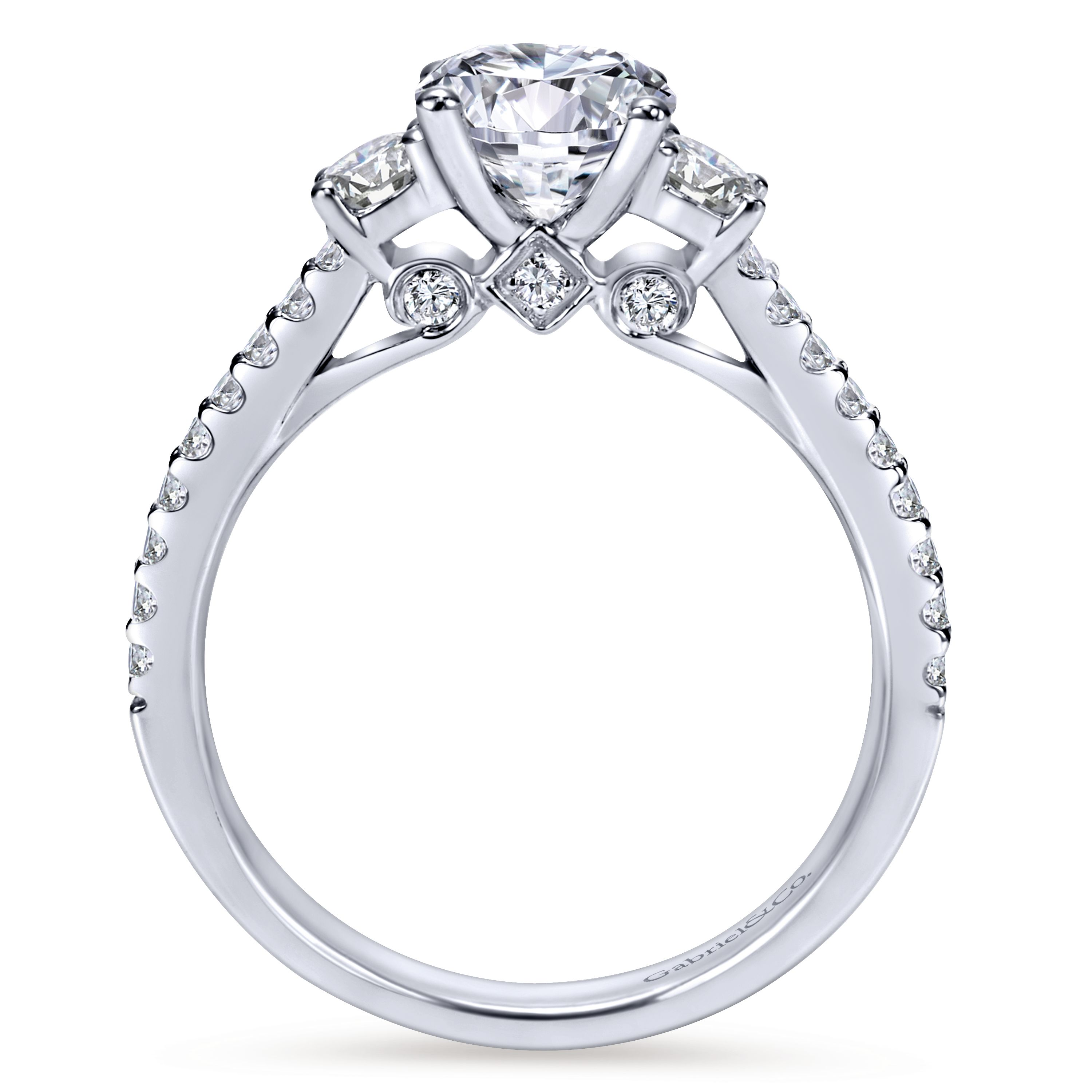 elegant rings stone engagement diamond bypass two ring amouria