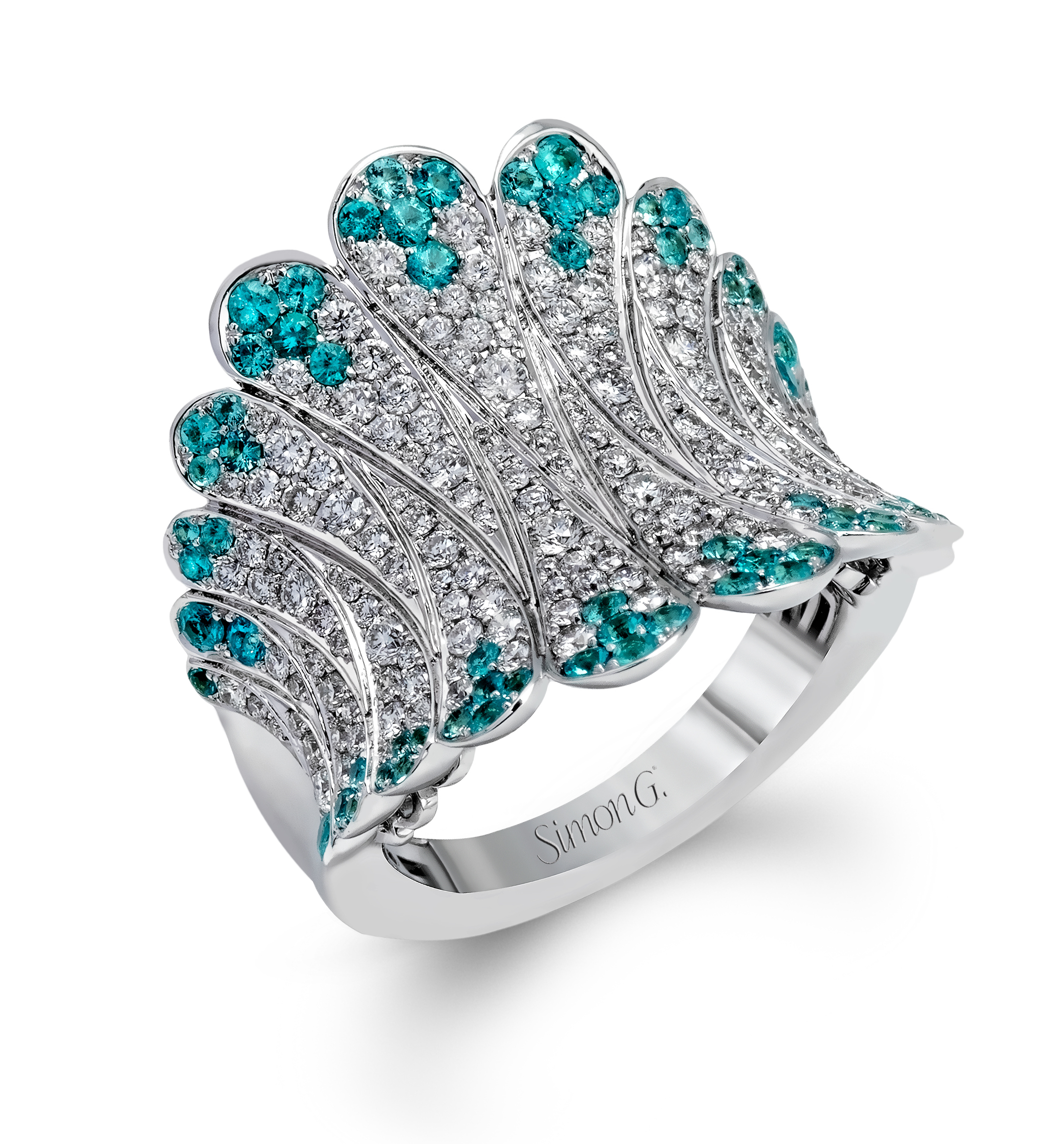 engagement teal rings ring ocean wedding for inspired