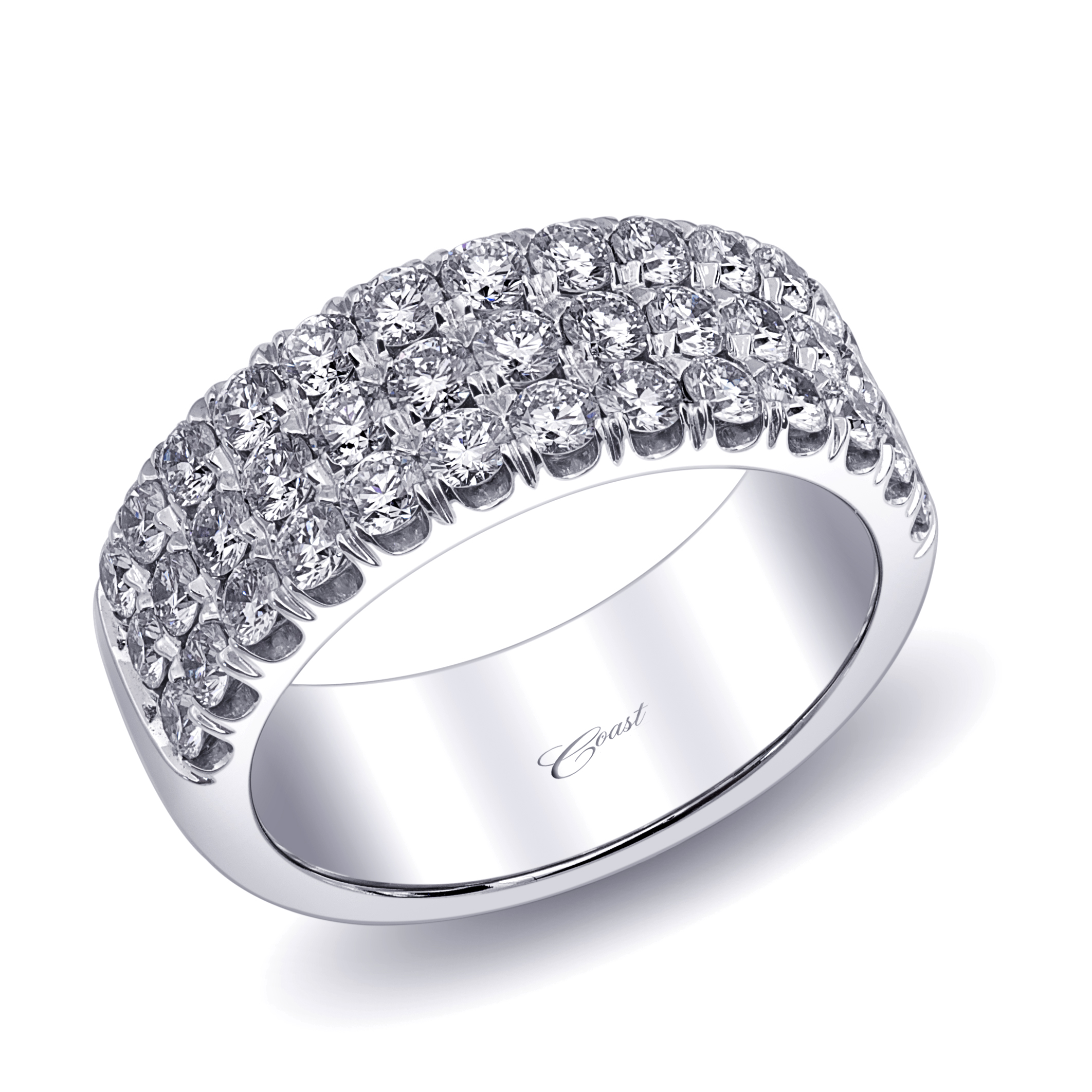 bands product en three orogem open line diamond ring band